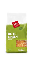 green rote Linsen