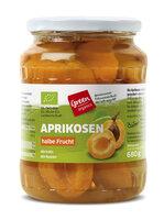 green Aprikosen im Glas
