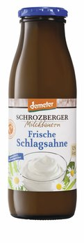 Sahne, 0,5L-Schlagsahne in der Flasche 32%