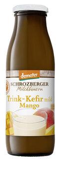 Kefir, Fruchtkefir Mango in der Pfandflasche