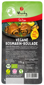 Veganbratstück Rosmarin Roulade, vegan