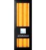 Stearin-Stabkerze gelb