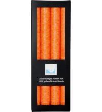 Stearin-Stabkerze orange