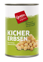 green Kichererbsen in der Dose