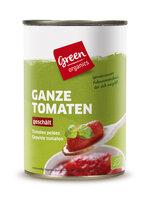 green geschälte Tomaten Dose