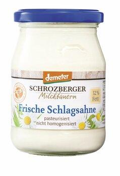 Sahne, frische Schlagsahne 32% demeter im Glas