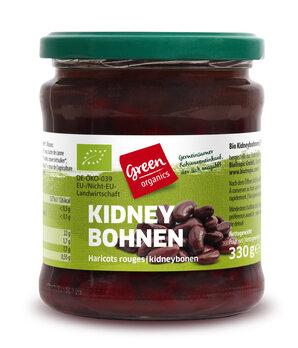 Kidneybohnen im Glas, green